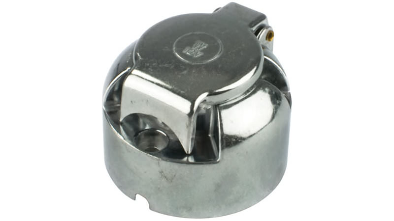 Photo of 7 Pin 12N Metal Towbar Trailer Socket