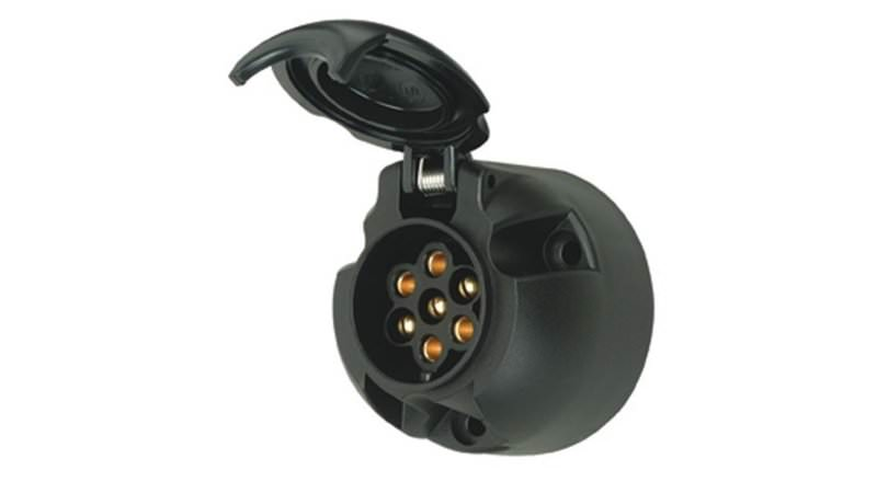 Photo of 7 Pin 12N Towbar Trailer / Caravan Black Plastic Light Socket
