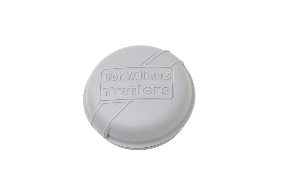 Photo of Ifor Williams 76mm Grey Trailer Hub Grease Cap - P1258