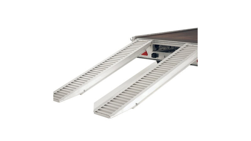 Photo of Ifor Williams Pair 8ft Aluminium Loading Ramps / Skids - KX5598