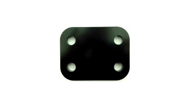 "Photo of 2"" Black Towbar Drop Plate"