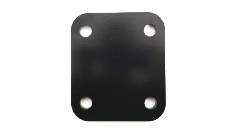 "Photo of 4"" Black Towbar Drop Plate"