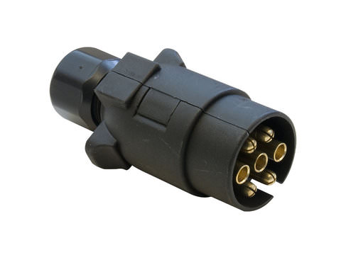 Photo of 7 Pin 12N Black Trailer / Caravan Road Light Plug