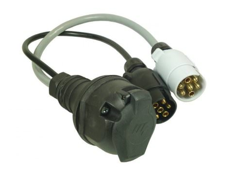 Photo of 13 Pin Plug to 12N & 12S 7 Pin Socket Adapter / Adaptor / Converter