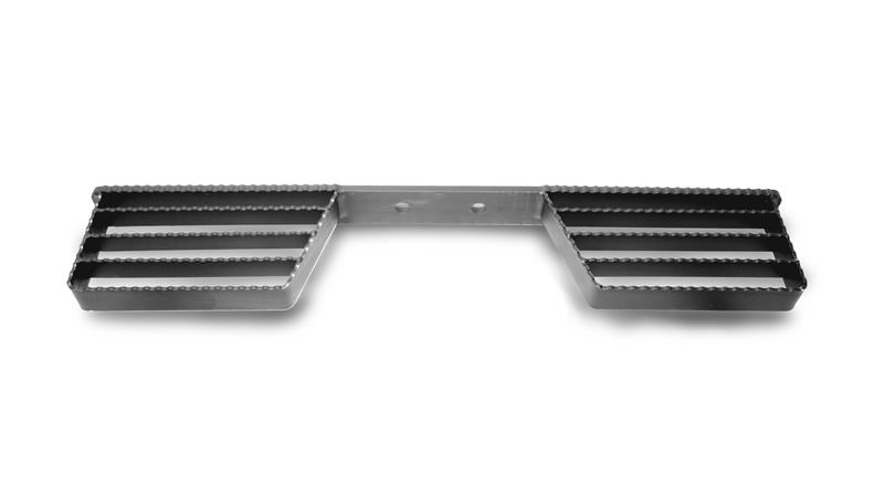 Photo of Double Sided Open Tread Black Towbar Step