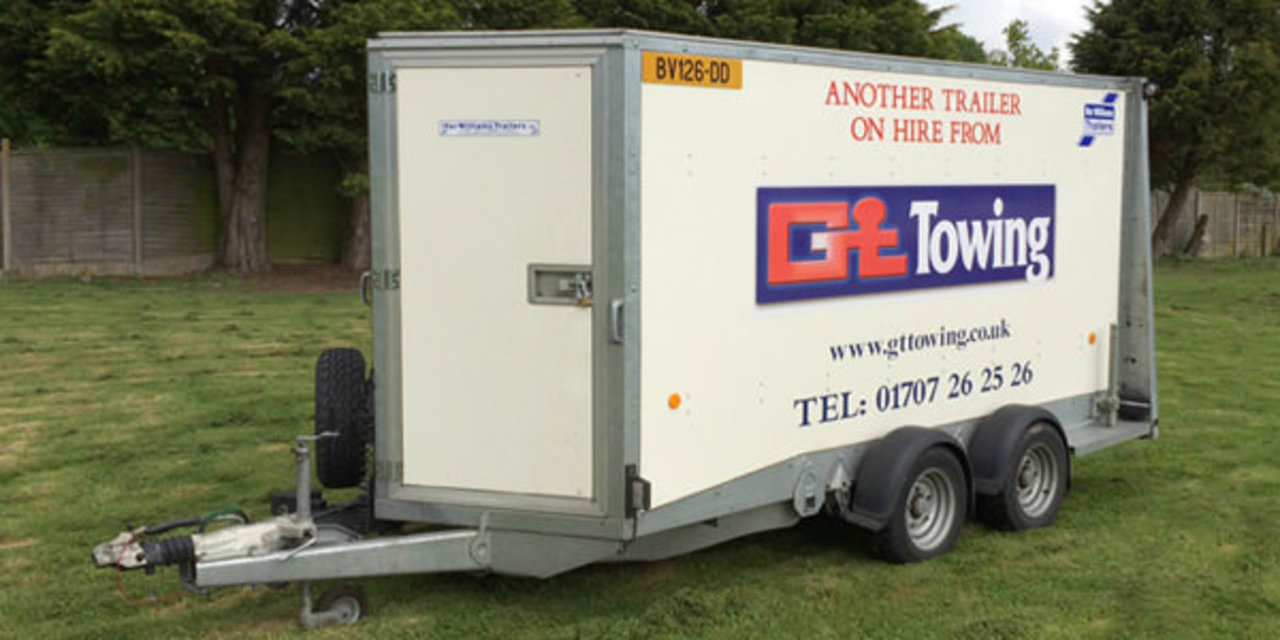 Ifor Williams Bv126g Enclosed Trailer Hire