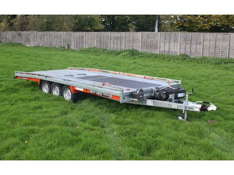 "Photo of Large Brian James Tiltbed Car Trailer Hire 5.5m x 2.22m / 18ft x 7ft 2"" (CT10)"