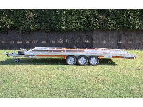 "Photo of Large Brian James Tiltbed Car Trailer Hire 5.5m x 2.22m / 18ft x 7ft 2"" (CT12) - LED Lights"