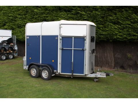 Photo of Used Ifor Williams HB505 Blue Double Horse Trailer