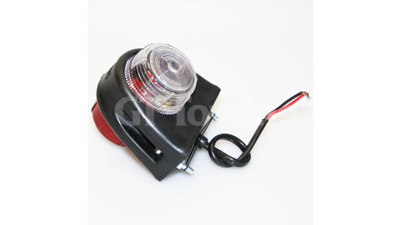 Photo of Side Marker Lamp with Clear and Red Lens - P0657B