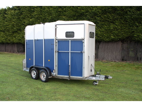 Photo of Used Ifor Williams HB510 Blue Double Horse Trailer