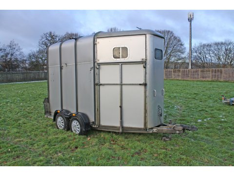 Photo of Used Ifor Williams HB510 Classic Silver Double Horse Trailer