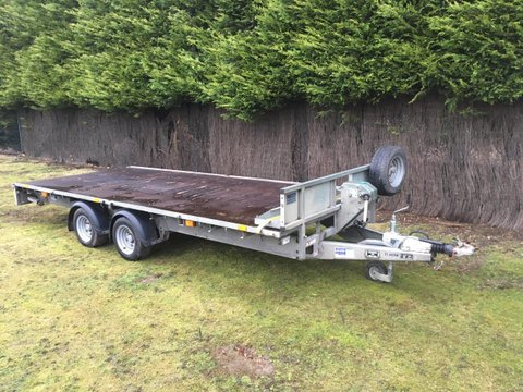 Photo of Used Ifor Williams LM166G Flatbed Trailer with Ramps & Winch