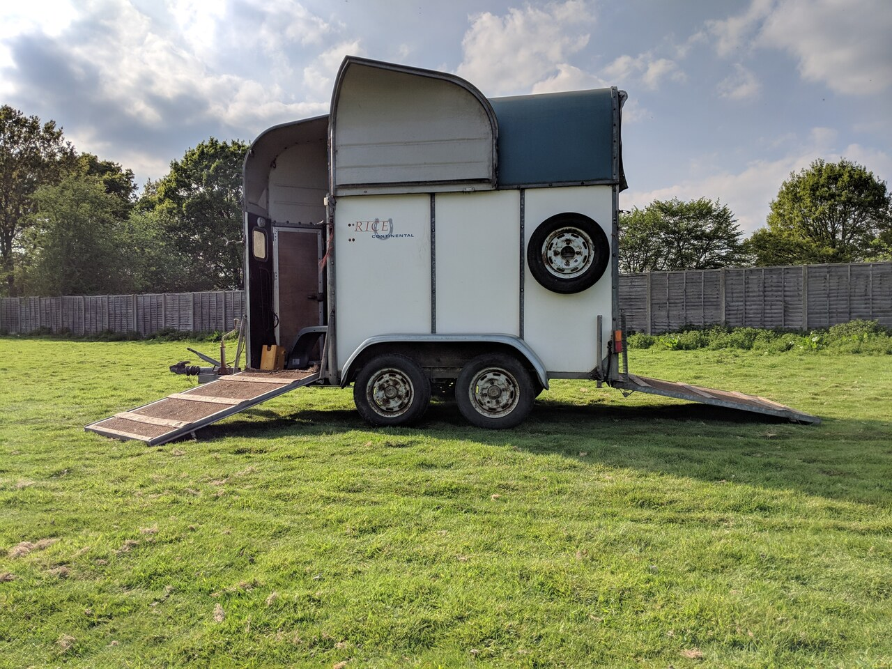 Used Rice Continental Small Horse Trailer