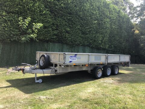 Photo of Used Ifor Williams LM166T Tri Axle Flatbed Trailer w/ Ramps