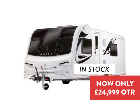 Photo of New Bailey Unicorn Black Cadiz - 2020 Caravan - 4 Berth Twin Fixed Single Beds