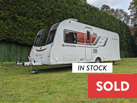 Photo of Used Bailey Unicorn S3 Vigo - 2015 Caravan 4 Berth End Washroom