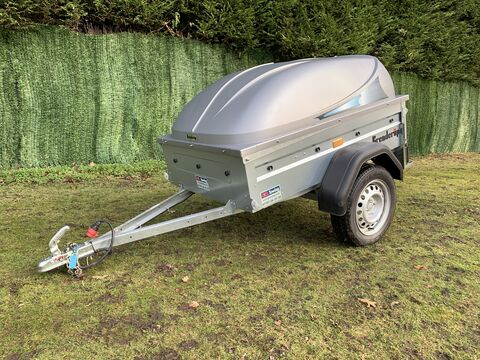Photo of Used Brenderup 1150s Lockable Hard Top Lid Luggage Trailer
