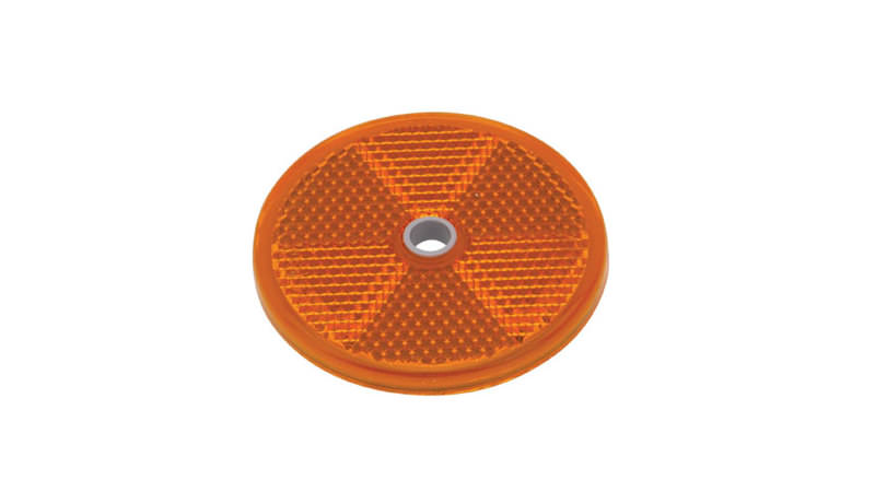 Photo of Ifor Williams Horsebox Amber Round Reflector - P1820